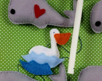 mobile whaleEtsy