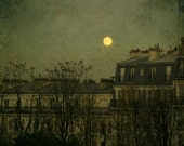 The Moon and Paris-Montmartre. Photographic print. Processed photographic, color printing.