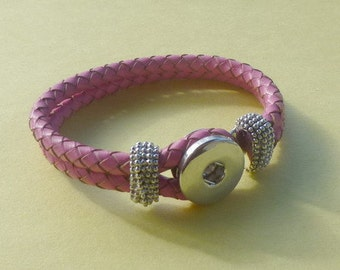 Pink Double Strand Braided Elastic Bracelet