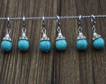 1 pc. Turquoise Dangle for Bracelets, Floating Charm Pendants, Necklaces & Keychains
