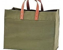 CB Station Advantage Utility Tote OLIVE With Monogramming