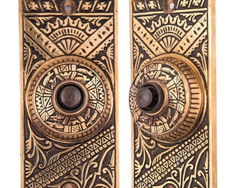 Oriental Eastlake button door bell
