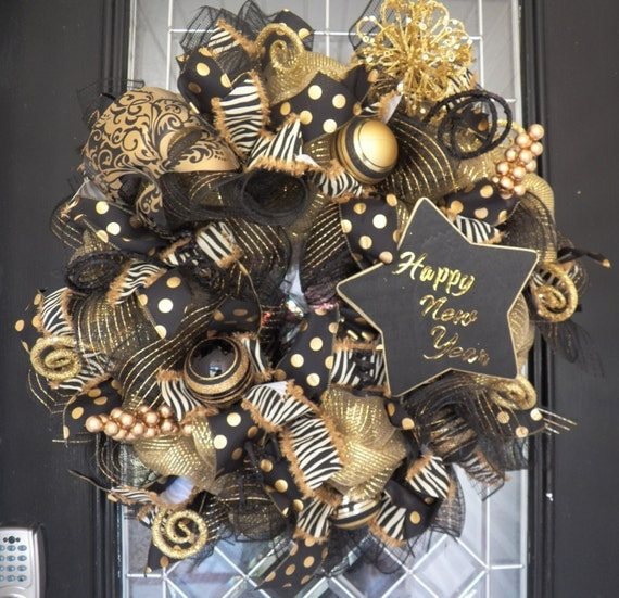 Happy New Year Wreath New Year S Party Decoration 2016