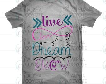 Shirt - kids - Live Love Dream Grow