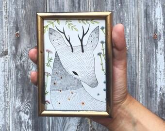 Original art . Deer