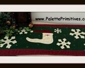 Snowflake Season Santa Tablerunner - E-Pattern/Instant Download