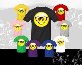 Nerd Face Emoji T-shirt (U+1F913)