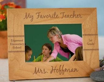 Personalized Frame, Wood Frame, Teacher