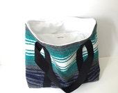 Serape Tote Bag - Falsa Blanket Bag - Mexican Blanket Tote - Upcycled Tote - Recycled Bag - Festival Bag - Beach Bag - Gift for Her
