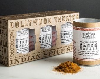 Indian Spice Mix Set, Gift Set, Bollywood Theater Restaurant, Spice Blends, Bollywood Theater Blend, Authentic, Portland, PDX, Garam Masala