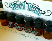 Perfume Oil Samples - 3 Perfume Oil Samples - 1/4 dram samples - Sample Set of Perfume - Perfume Vials - Perfume Samples - Vegan Perfume