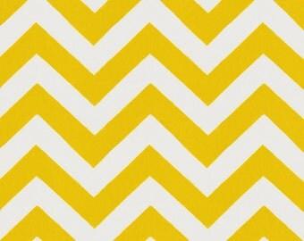 Yellow Zig Zag Organic Fabric - By The Yard - Boy / Girl / Gender Neutral