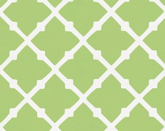 Kiwi Lattice Organic Fabric - By The Yard - Girl / Boy / Gender Neutral