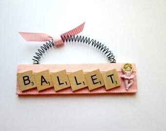 Ballet Scrabble Tile Ornament