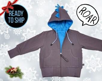 Toddler Gift DINOSAUR Kids Jacket.Birthday Toddler Gift.Dinosaur hoodie.Boy Toddler Jacket.Dinosaur Jacket.Express Shipping. Ready to ship.