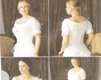 Simplicity 7215 Misses' Chemise and Corset Sewing Pattern, 14-20