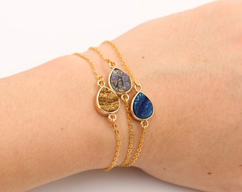 Druzy Bracelets & Anklets -- Handmade Drusy Supplies Wholesale Geode bridesmaid Jewelry DJ