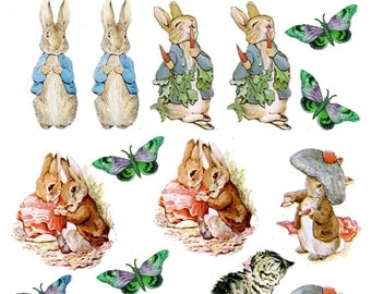 Peter Rabbit Cake Decorations Uk : Edible wafer paper Etsy