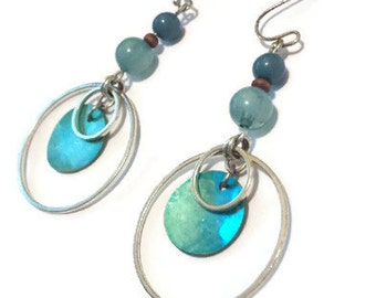 Vintage Turquoise Dangle and Drop Earrings