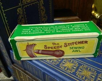 Vintage The Speedy Stitcher Sewing Awl - Original Box - New Old Stock