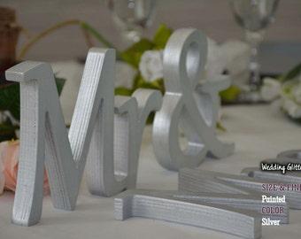 silver wedding decorations, centerpiece, glitter sweet heart table signs, rose gold wedding decor