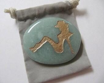 Gemstones, Cowgirl, Nude Lady, Totem Spirit Healing, Stones with Symbols, Medicine Bag, Spirit Totem, Reiki, Chakra,Feng Shui