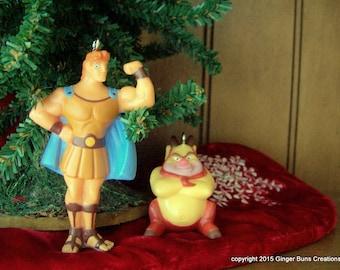 Disney Hercules and Phil ornament set