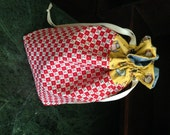155. This roomy Project Bag is 100% cotton, fully lined and just waiting for your projects! Perfect for your crochet, knitting or sewing.