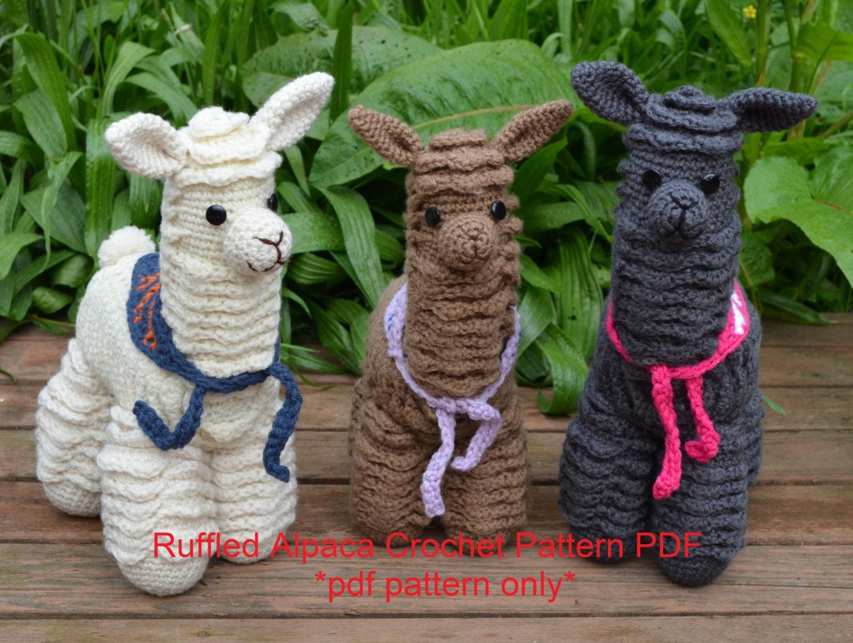 Alpaca Amigurumi Crochet Patterns : Alpaca crochet pattern llama crochet pattern amigurumi