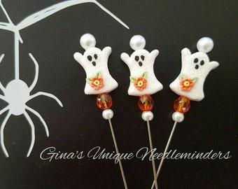 Orange Ghost Counting Pin, lapel pin, marking pin