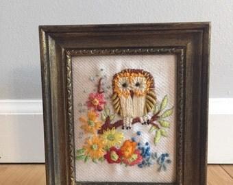 Adorable Owl Needlepoint