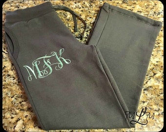 Womans Monogrammed Lounge Pants