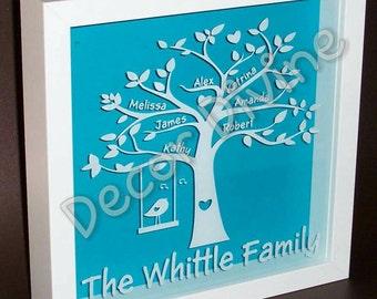 Personalised family tree keepsake frame