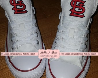 MLB (LOW TOP) Embroidered Canvas Shoes  -  St. Louis Cardinals - Chucks, Chuck Taylors