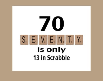 70th Birthday Card, Milestone Birthday, 70th Birthday, Scrabble Birthday Card, Scrabble, The Big 70, 1947 Birthday Card