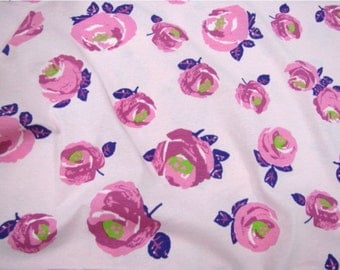 Cotton Jersey Knit Fabric Rose Pink By The Yard