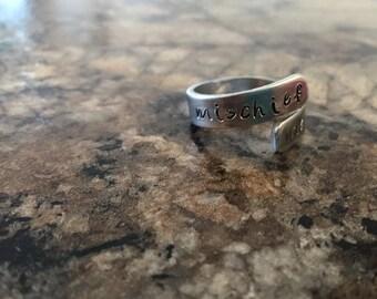 Mischief Managed Aluminum Ring