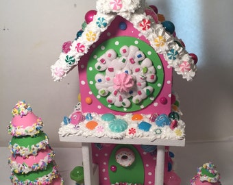 Snowflake candy land house.