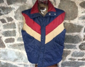 Basic 1970's Vest in Large Good Condition