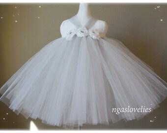 Grey tutu dress- baby tutu dress- flower girl Tutu dress- flower tutu dress- pageant tutu dress- pageant dress