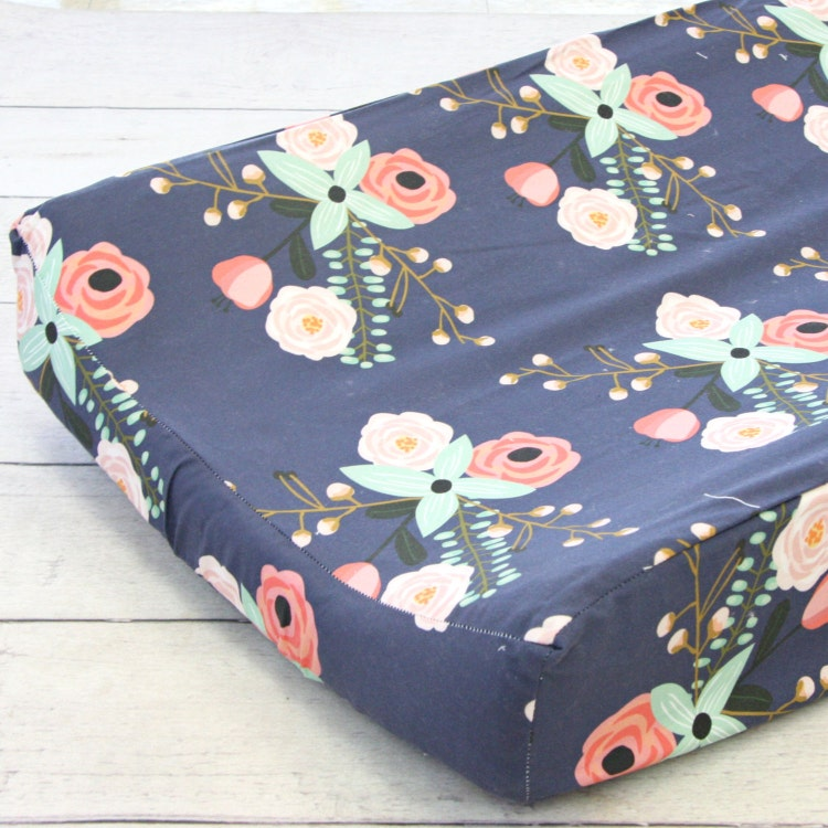 Berkeley's Floral Girl Changing Pad Cover By