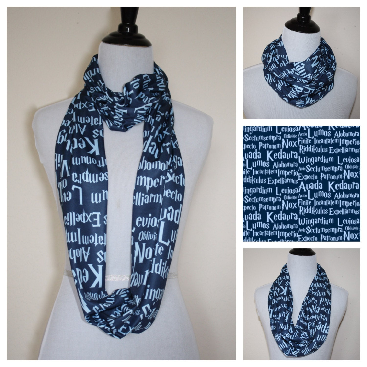 harry potter ravenclaw house infinity scarf by