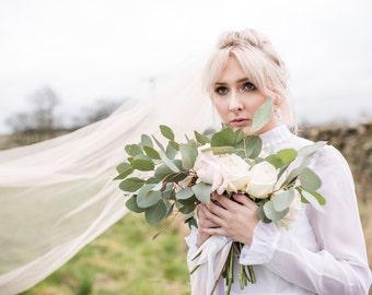 wedding veil, coloured veil, dip dye veil, pink veil,veil, bridal veil, cathedral veil, long veil, veil, veiling, bridal veil, brides veil,