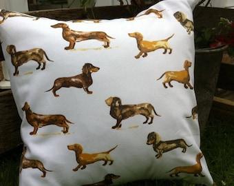 Daschund Dog Cushion Cover