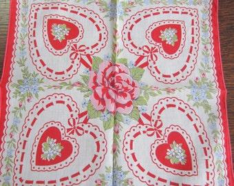 Lovely Vintage Valentine Hankie