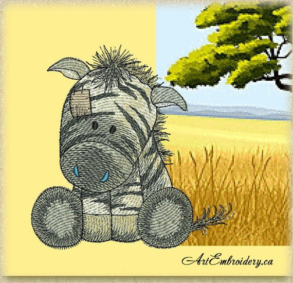 Zebra machine embroidery designs set for a babies and