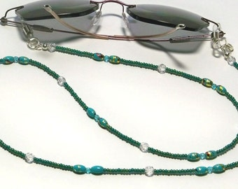Glasses Chain, Sunglasses Holder Chain, Glasses Necklace, Eyewear Chain, Glasses Jewelry, Bead Glasses Chain,  Free Shipping