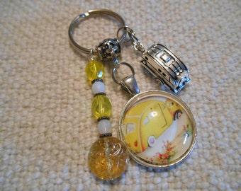 Sale Item:  Vintage Trailer Keychain