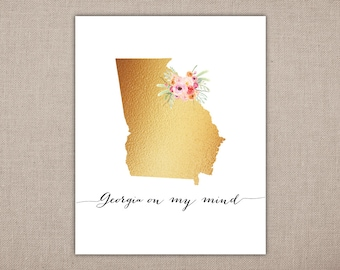 Georgia on my mind - Art Printable