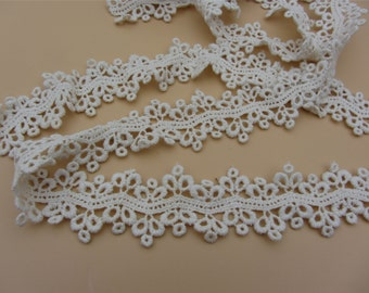 beige cotton lace trim delicate floral hollow up lace trim 3cm  wide 3yards